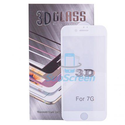 Защитное 3D стекло iPhone 7 white